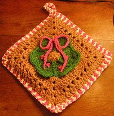 Gingerbread and Candy Cane Potholder
