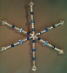 Crystal Snowflake Ornaments