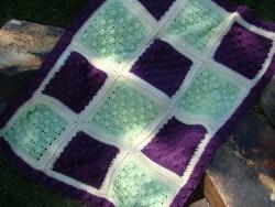 Crochet Popcorn Baby Blanket