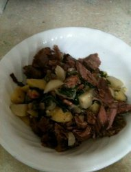 Brisket and Turnip Hash