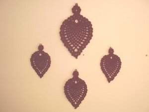 Wrought Iron Pineapple Wall Hangings