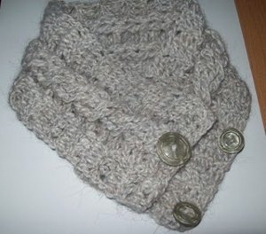 Simple, Quick Crocheted Cable Neck Warmer