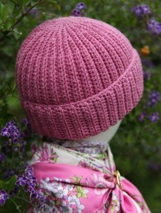 Reversible Crochet Brioche Hat