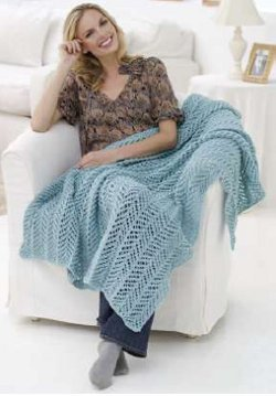 Arrowhead Lace Knit Throw