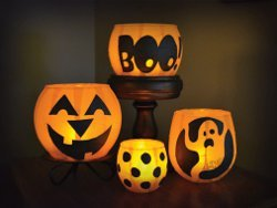 Lil' Pumpkin Votive Luminaries