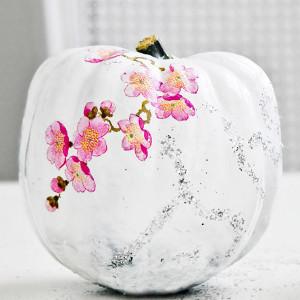 Artistic Decoupaged Pumpkins