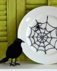 Creepy Crawly Spiderweb Plate