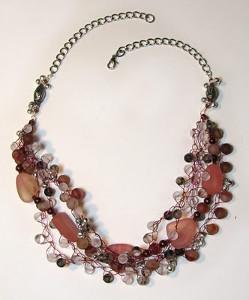 Crochet Sea Glass Necklace