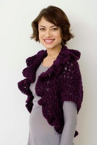 Easy V-Stitch Cocoon Shrug