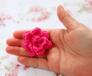 Pink Rose: Free Crochet Flower