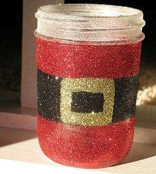 Sparkly Santa Jar