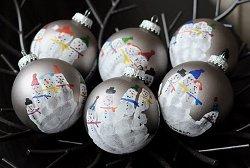 Snowman Family Handprint Ornaments