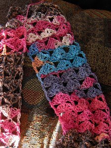 Shells and Chains Scarf