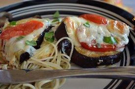 Eggplant Caprese Style