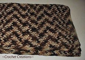 Crochet V-stitch Blanket