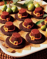 Chocolate Pilgrim Hat Treats