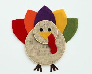 Embroidery Hoop Turkey Art