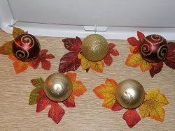 25 Cent Autumn Table Accents