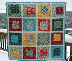 Wonky Bugs Baby Quilt