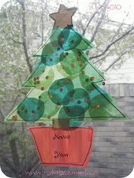 Christmas Tree Sun Catchers