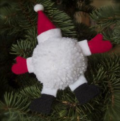 Santa Goes Splat Ornament