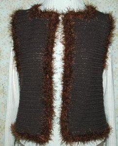 Fun Fur Crochet Vest