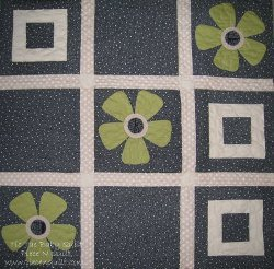 Tic Tac Toe Baby Girl Quilt