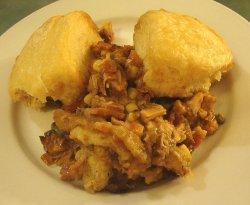 Leftover Turkey And Dumplings Casserole
