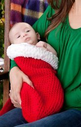 Santa's Stocking Crochet Baby Cocoon
