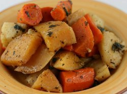 Slow Cooker Roasted Winter Root Vegetables