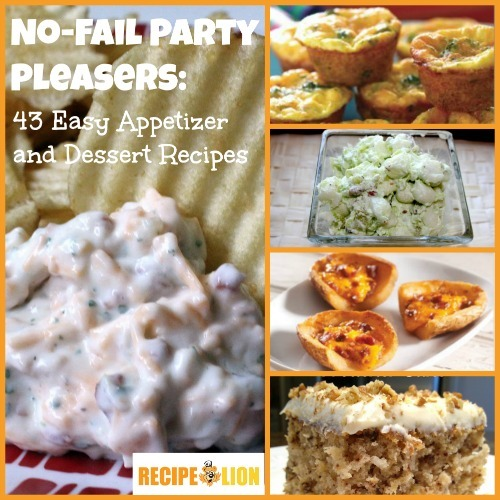 No fail party pleasers 32 appetizer party recipes and for Easy party desserts recipes