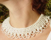 Lace Knit Collar
