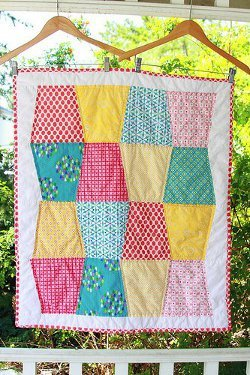 Tumbling Blocks Baby Quilt