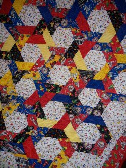 Twirling Hexagons Baby Quilt Video Tutorial