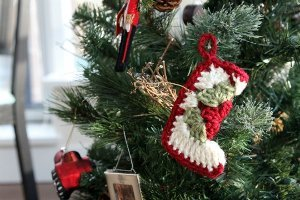 Granny Square Stocking Ornament