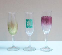 Shimmering Champagne Glasses