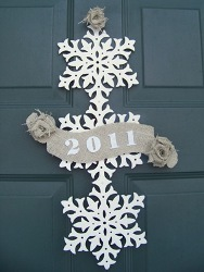 Upcycled New Years Door Decor