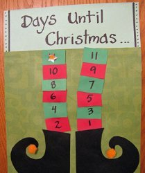 Elf Legs Christmas Countdown Calendar
