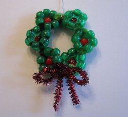 Mini Beaded Wreath Ornament