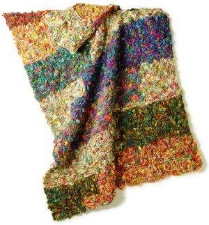 Brenda's Knit Stitch Blanket