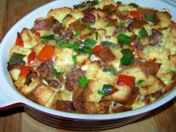 Sausage and Pepper Brunch Strata