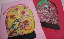 Snow Globe Valentines Cards