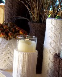 Recycled Sweater Vases