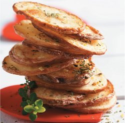 Oven Fried Potato Chips