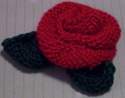 Beautiful Knitted Rose