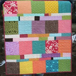 Blocks and Stripes Baby Quilt