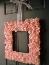 Thrifty Square Rose Wreath