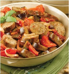 Ragu with Roasted Eggplant and Tomato