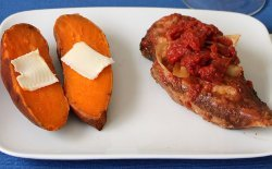 Balsamic Chicken and Baked Yams