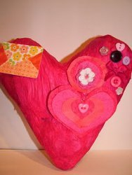 One Dollar Paper Mache Heart